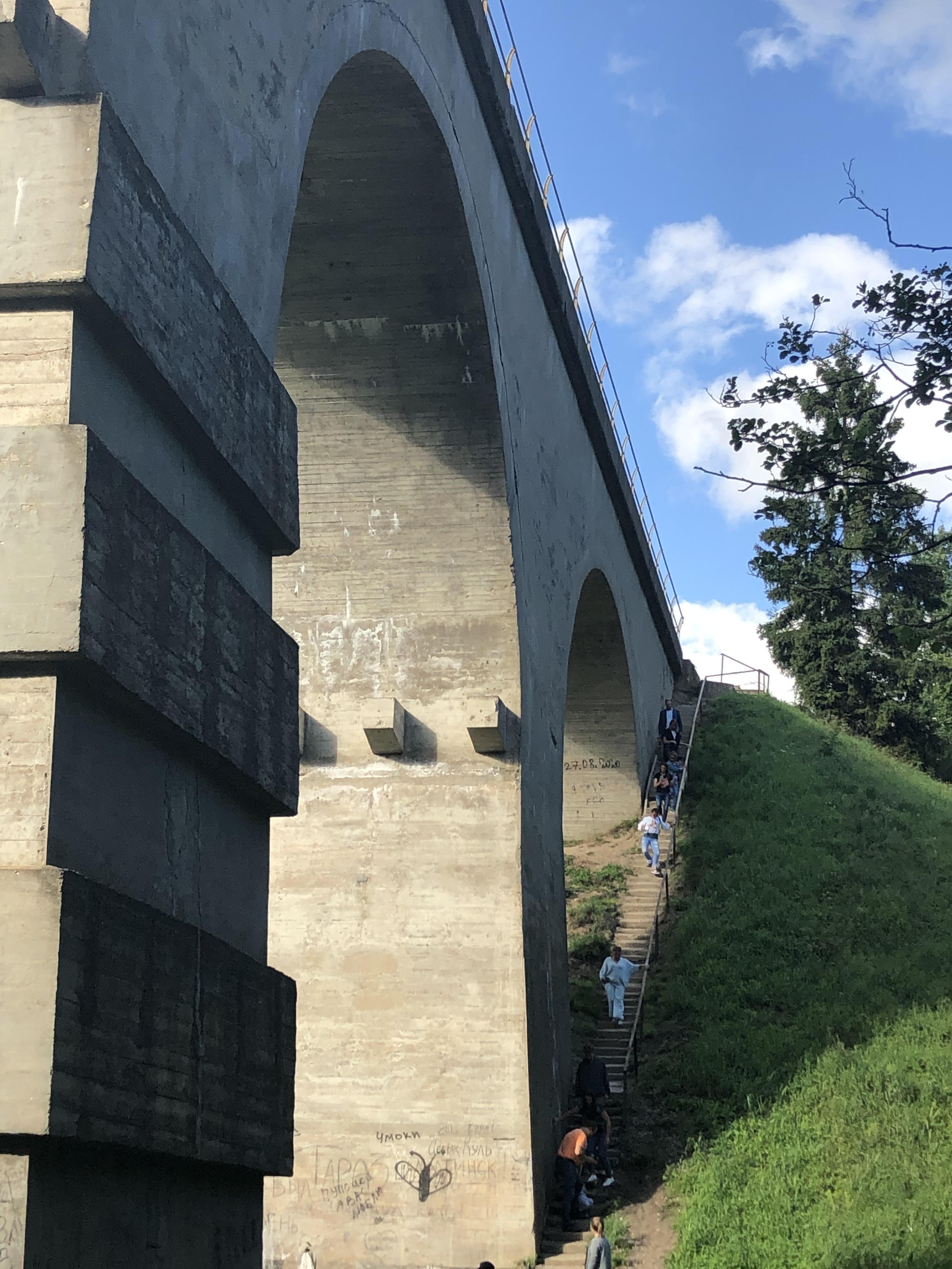 Железнодорожный арочный мост