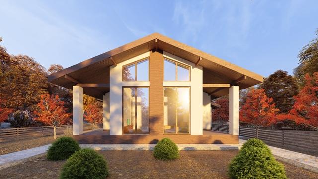 Проект дома «Скандия» \ строительная компания «Стабилис»