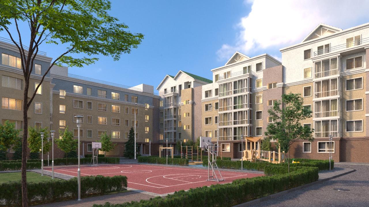Дизайн будущего двора ЖК «Сергиевская Слобода»