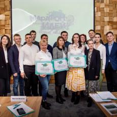 Победители и участники конкурса «Марафон идей» в Новосибирске. Фото: партия «Новые люди»
