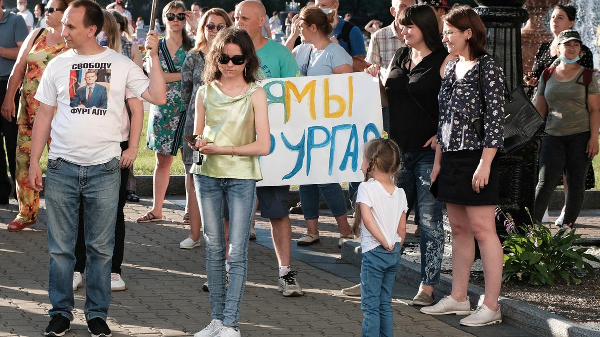 В Хабаровске третью субботу подряд вышли на улицы в поддержку Фургала