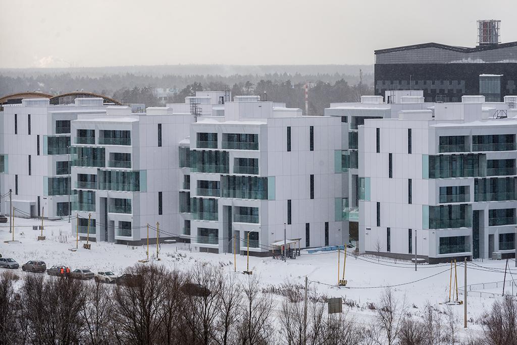 Квартал представляет собой невысотную жилую застройку переменной этажности (4–5 этажей) с обособленными внутренними дворами и общественными пространствами