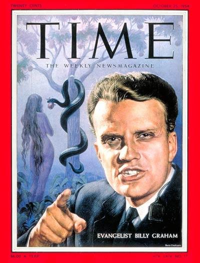Билли Грэм на обложке журнала Time. 1954 год