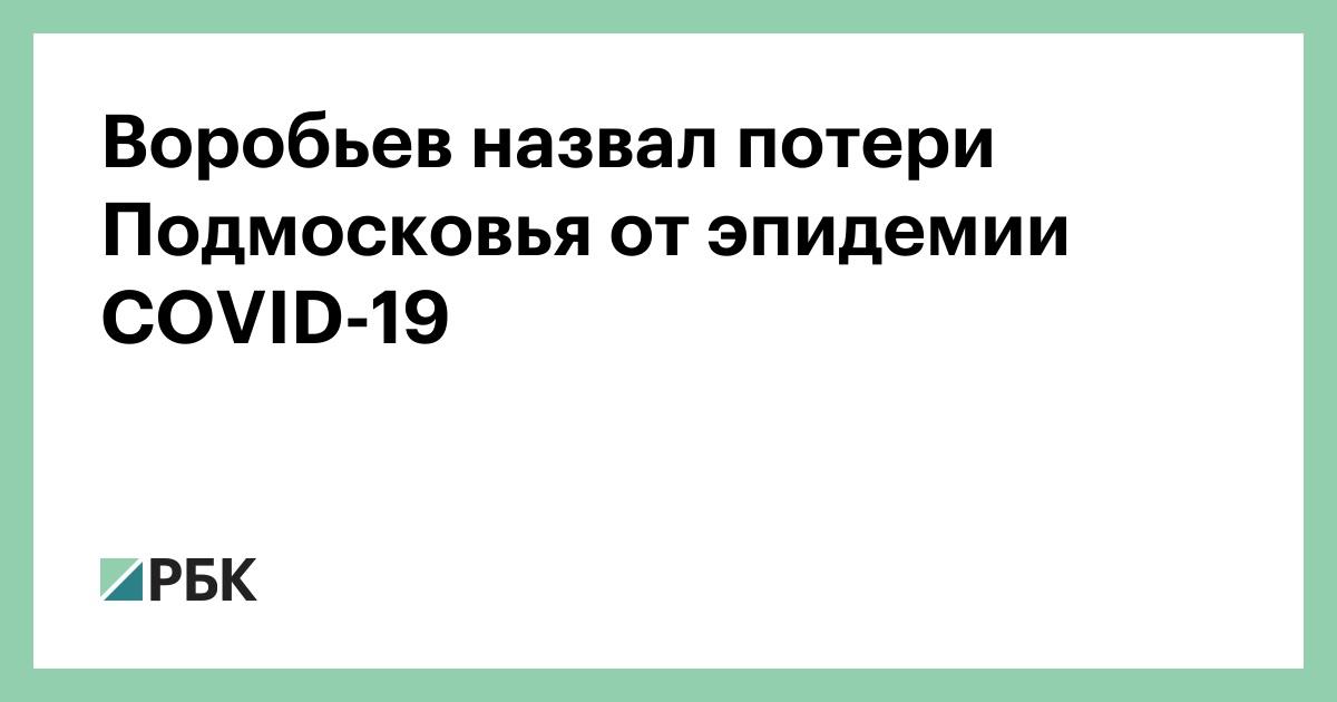 Воробьев назвал потери Подмосковья от эпидемии COVID-19