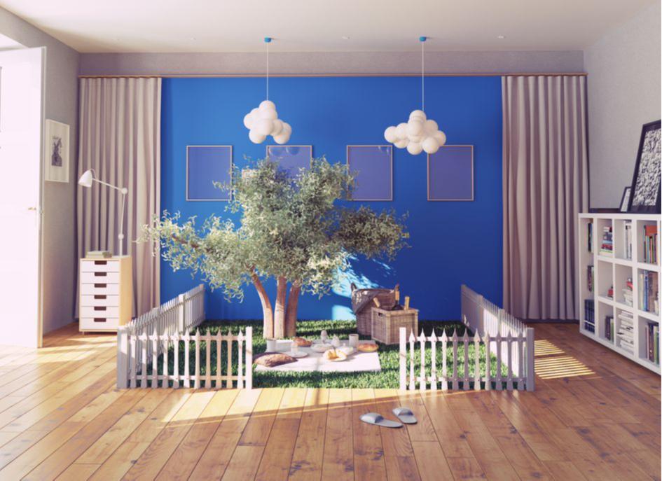 Создайте просторную и уютную зону для игр в детской