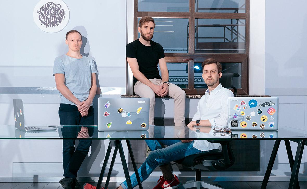 Алексей Фалин,Илья Казанцев иАндрей Никифоров(слева направо)