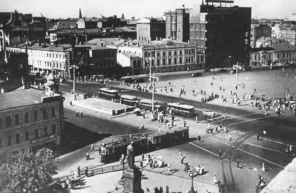 Площадь Пушкина в Москве, 1940 год