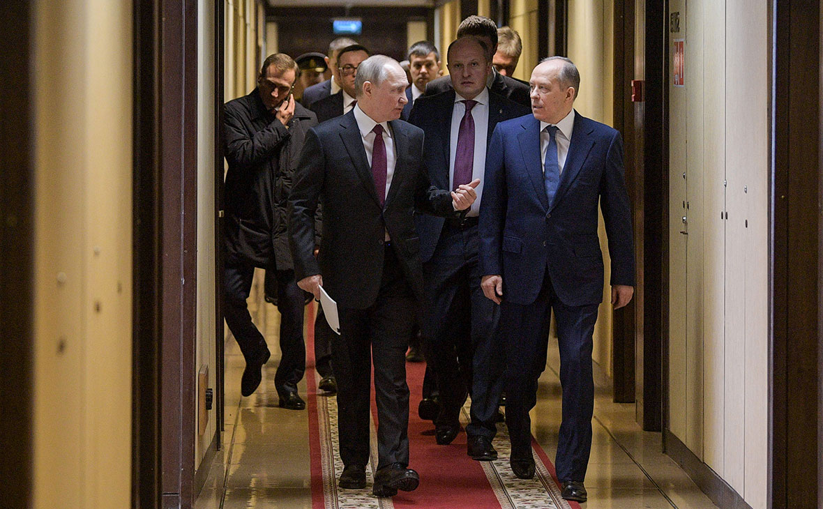 Владимир Путин и Александр Бортников