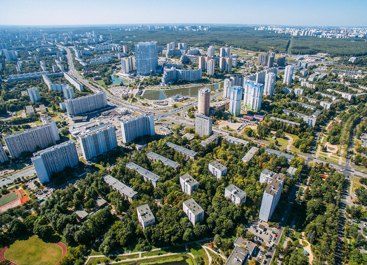 Вид на Балаклавский проспект иЧертановскуюулицу