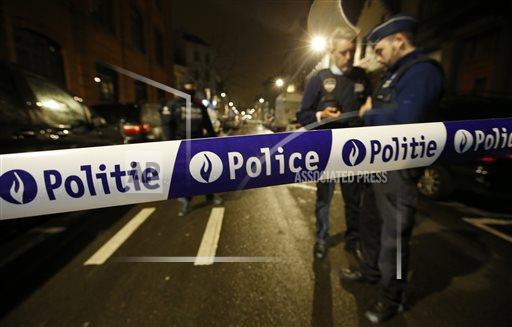 Полицейский кордон в Брюсселе