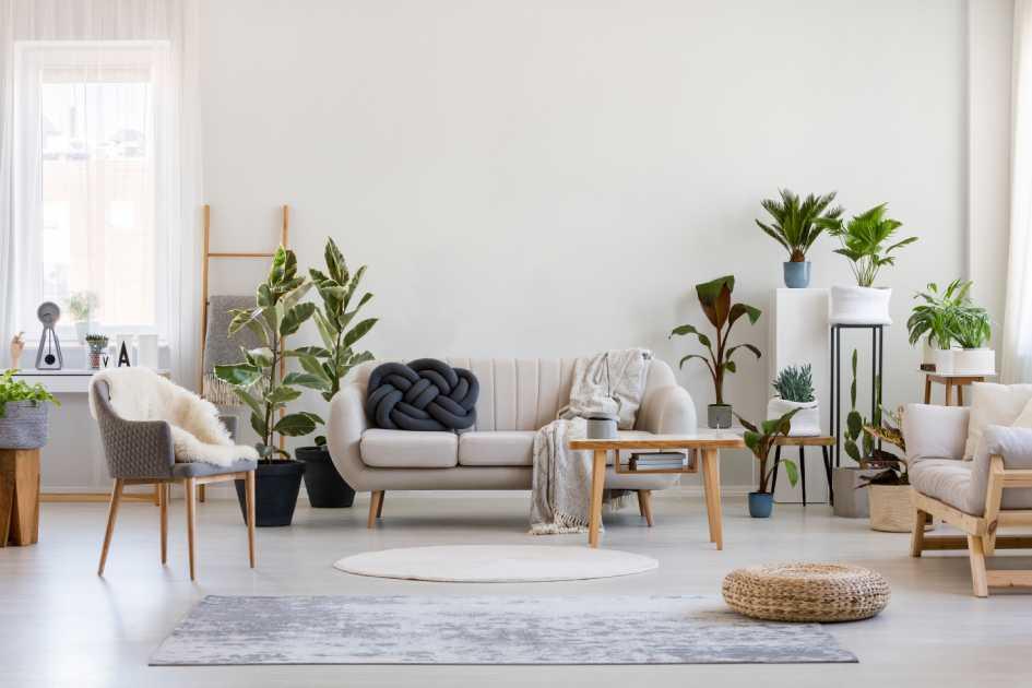 В стиле преобладает практичная мебель с лаконичным дизайном