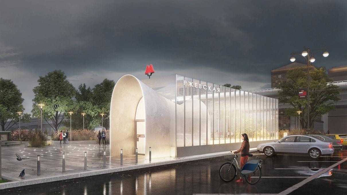 Проект станции метро «Ржевская»