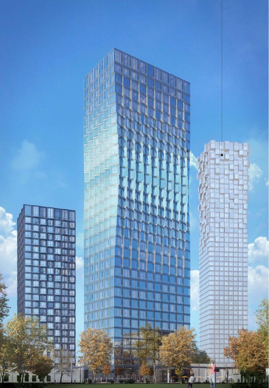 У каждого из зданий комплекса появляется свой узнаваемый архитектурный облик