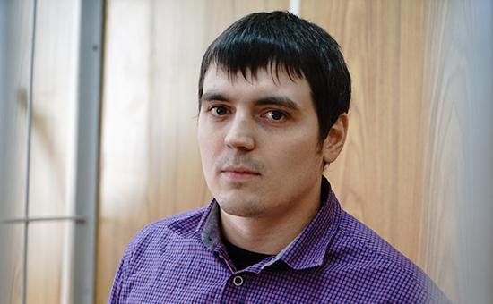 Журналист РБК Александр Соколов на заседании суда, сентябрь 2015 года