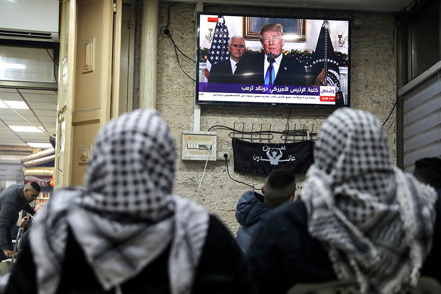 Трансляция обращения Дональда Трампа в Старом городе Иерусалима