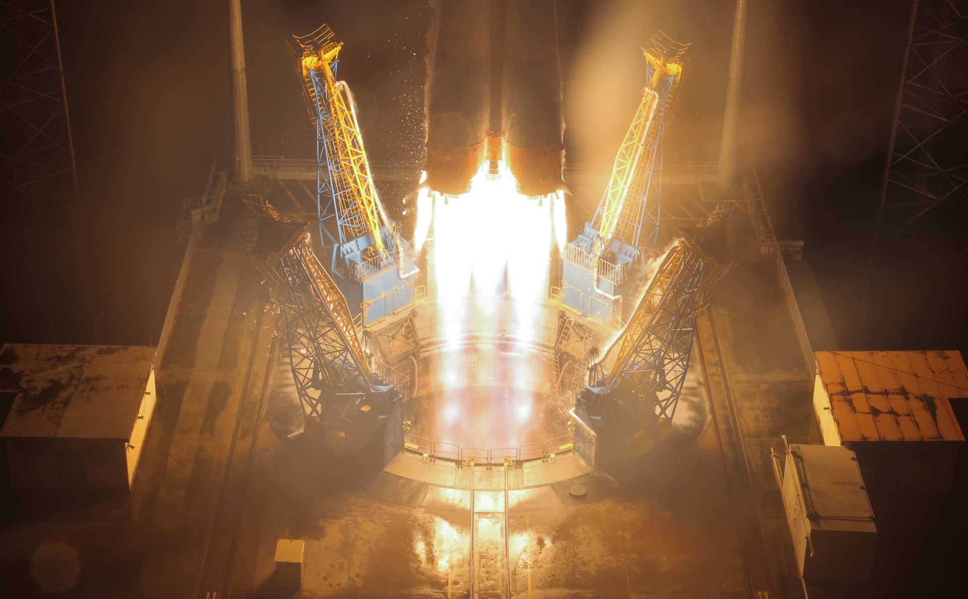 Запуск «Союза» с космодрома Куру