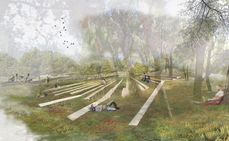 По словам архитекторов, главная цель проекта—создание открытого общедоступного городского пространства, которое одновременно будет служить мемориальным местом ирекреационной зоной