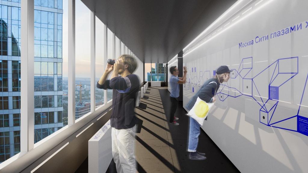Пространство будущего музея на56-м этаже башни «Империя»