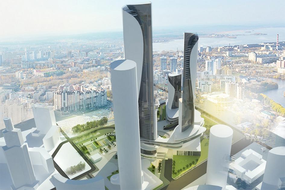 Небоскребы сщитками  Архитекторы добавили башням дизайнерские белые накладки, врезультатечегонебоскребы стали напоминать ноги футболистов, закрытые щитками