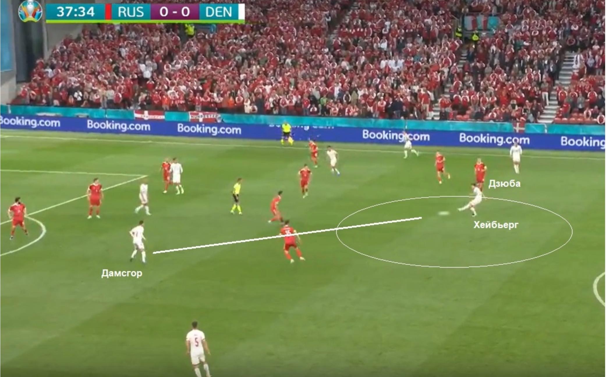 Фото:Момент первого гола (Скриншот)