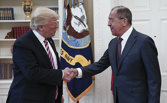 Дональд Трамп и Сергей Лавров