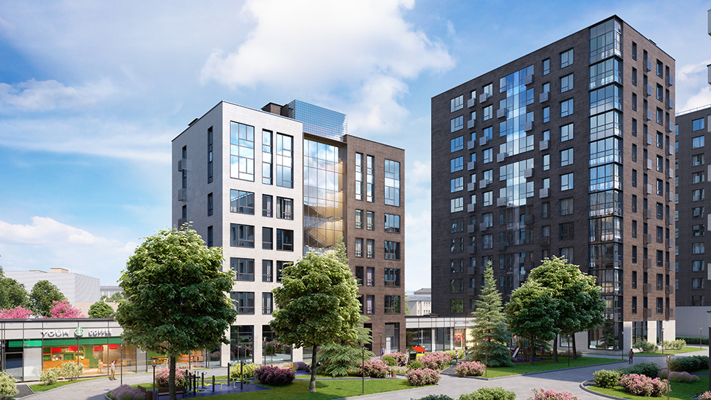 Проектное решение домов квартала
