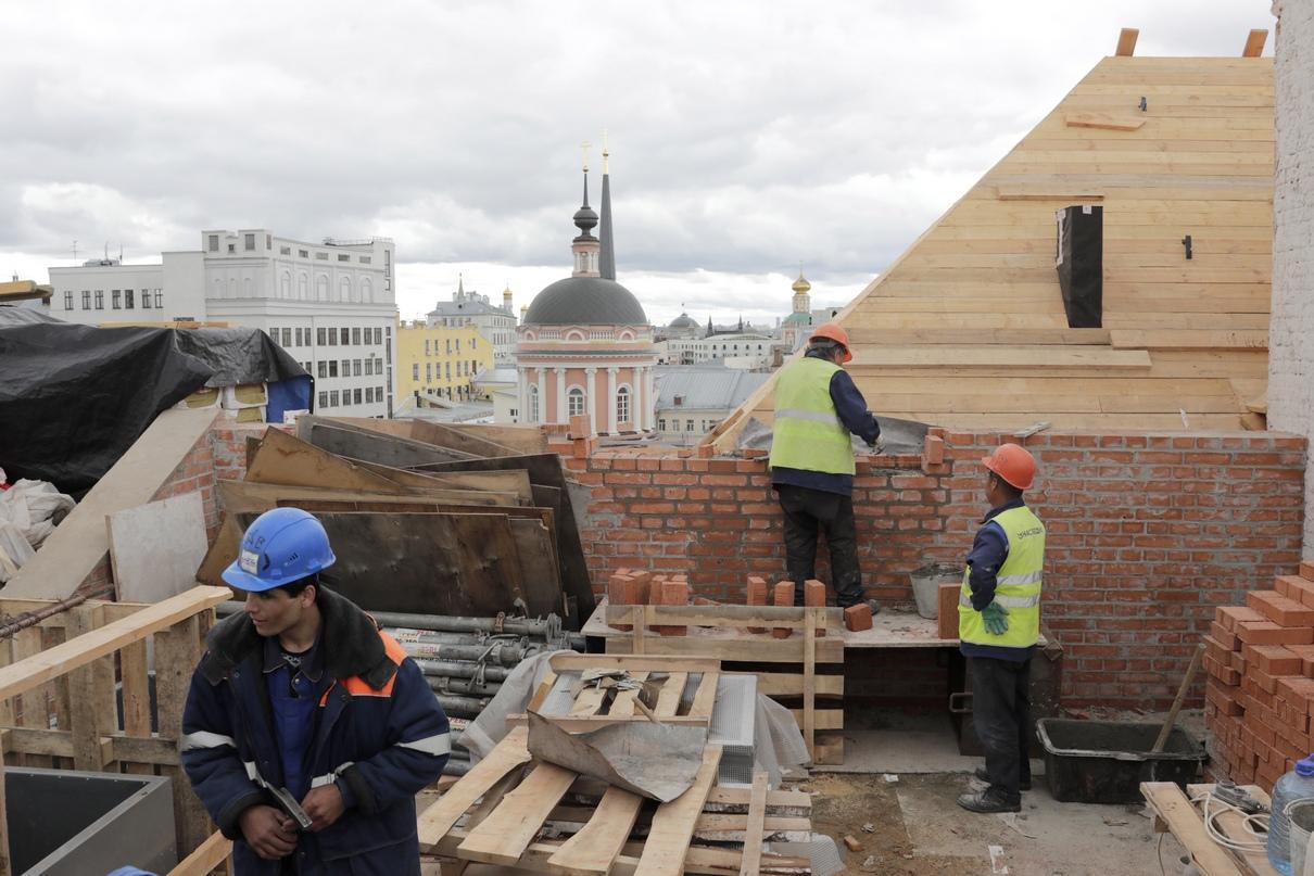 Вид на центр Москвы с крыши Политехнического музея