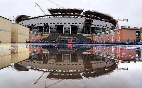 Строительство стадиона «ЗенитАрена» наКрестовском острове
