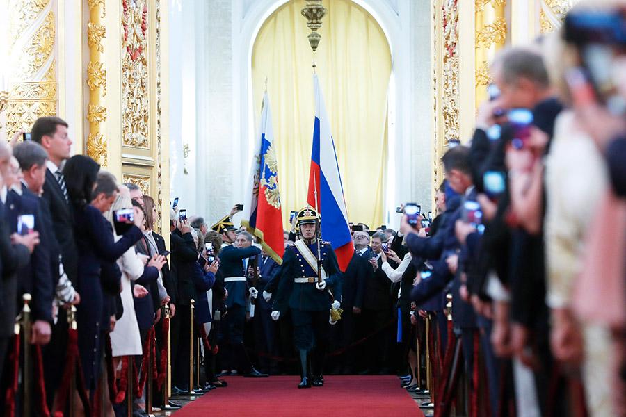 По традиции торжественная церемония проходила в Андреевском зале Большого Кремлевского дворца в Москве