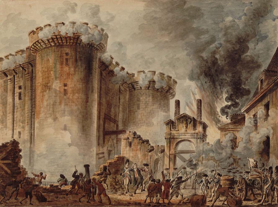 Взятие Бастилии 14 июля 1789 года