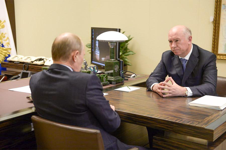 Николай Меркушкин и Владимир Путин