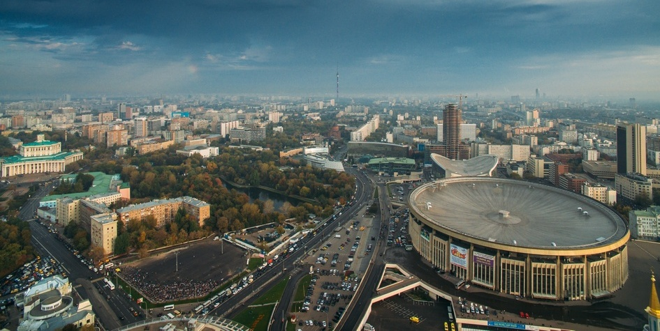 Вид на Мещанский район Москвы
