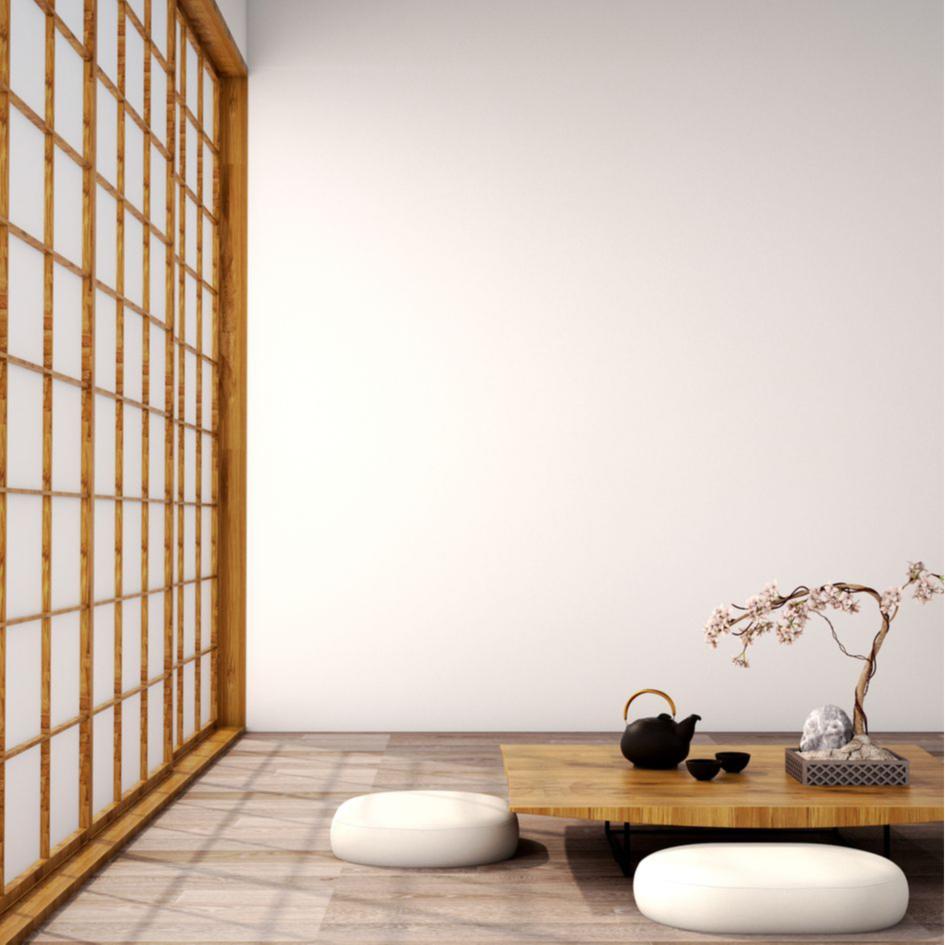 Выбирайте невысокую мебель для японского интерьера