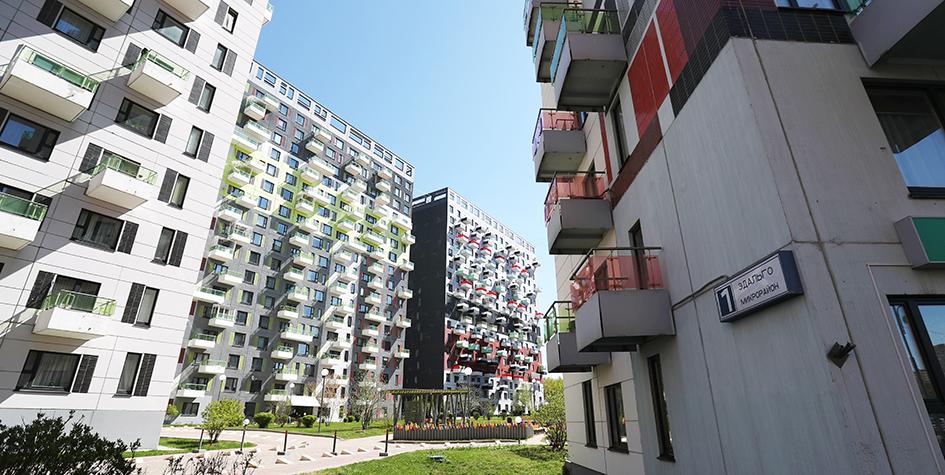 Современный микрорайон в Москве