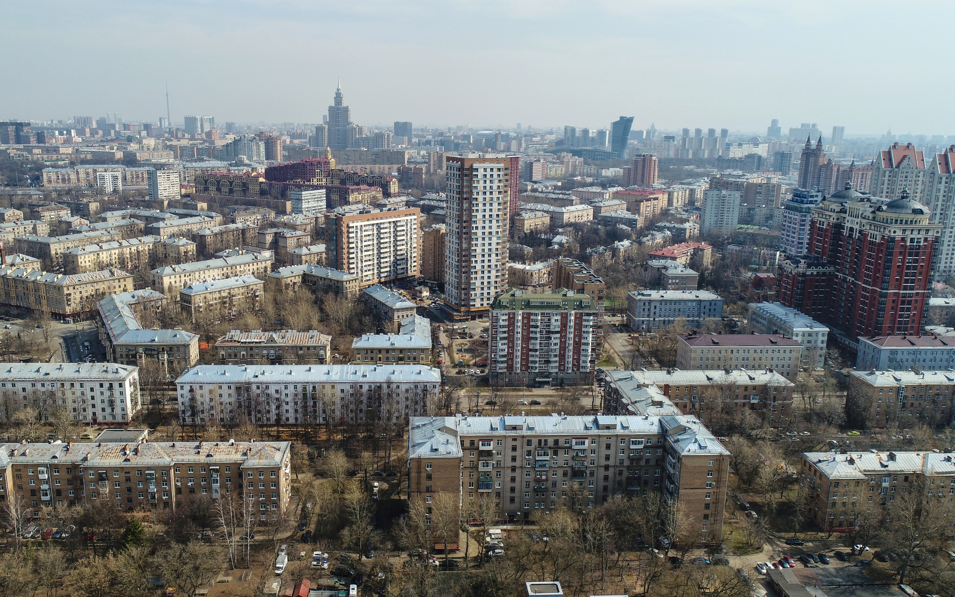 Вид на район Щукино в Москве