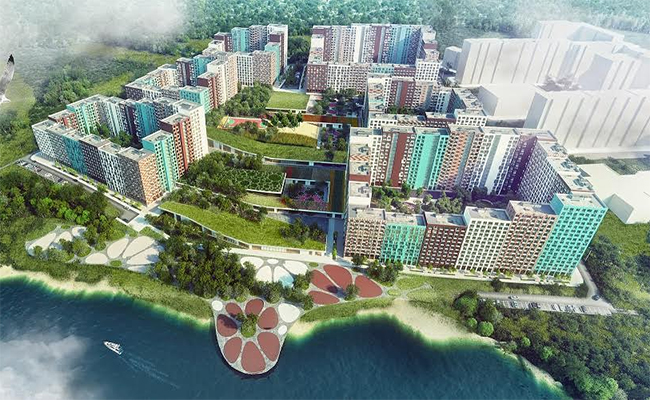 Проектное изображение микрорайона в Видном