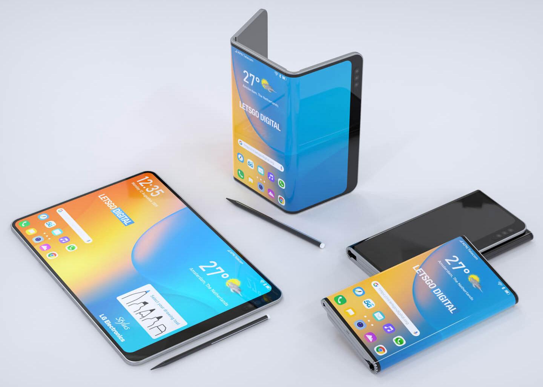 Для сравнения— концепция смартфона LG (2019 год). Совпадение поразительное до мелочей
