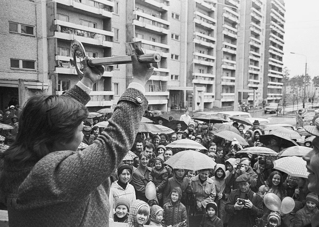 Символические ключи от нового кооперативного дома. Свердловск, 1985 год