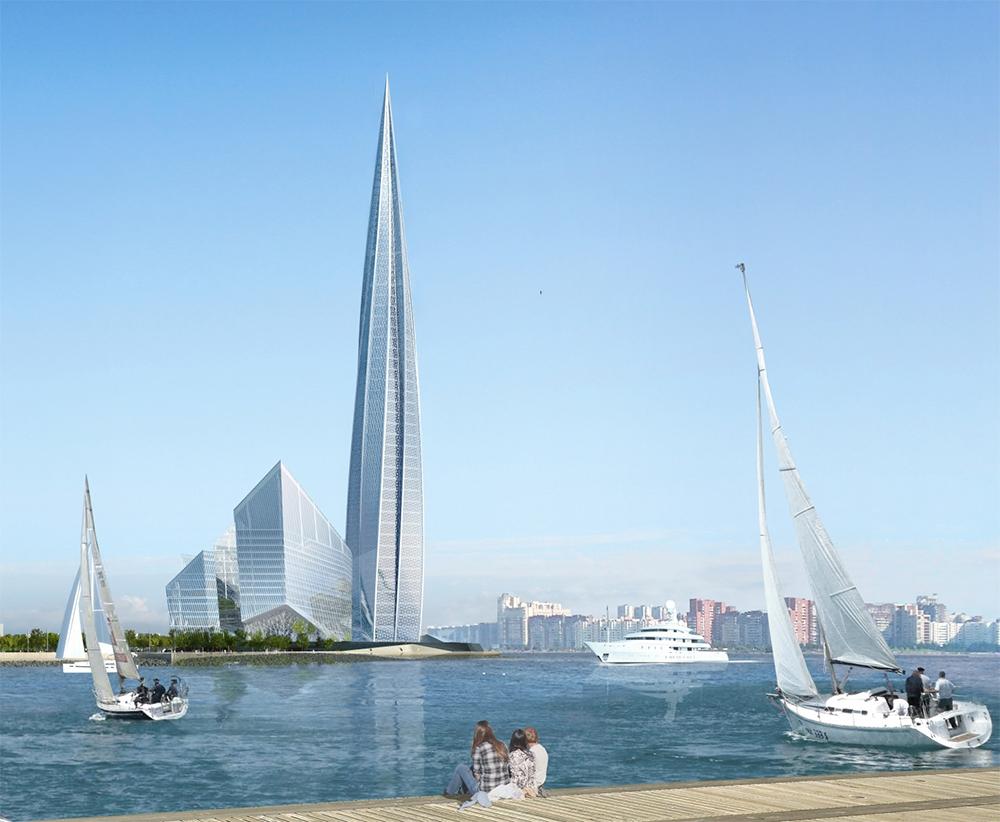 Высота штаб-квартиры Газпрома в Петербурге по планам должна составить 463 м
