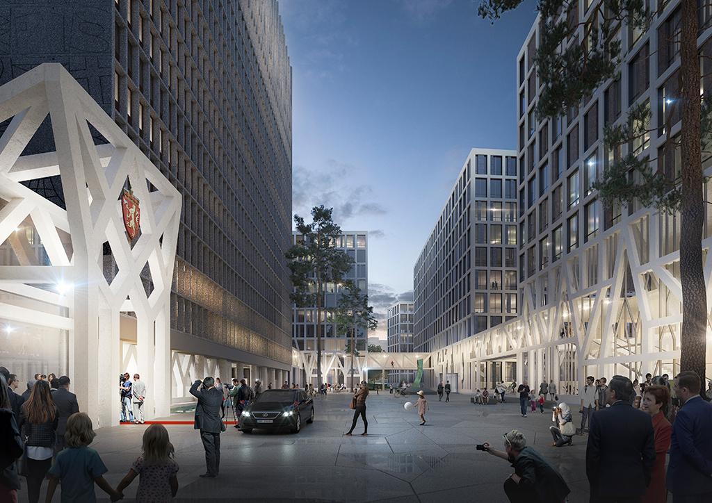 Фасады общественных заведений в публичной зоне