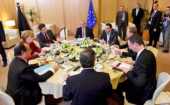 Заседание лидеров европейских стран на саммите Европейского союза в Брюсселе