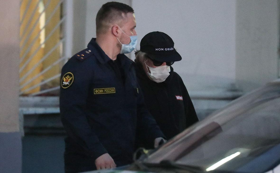 Михаил Ефремов после избрания меры пресечения