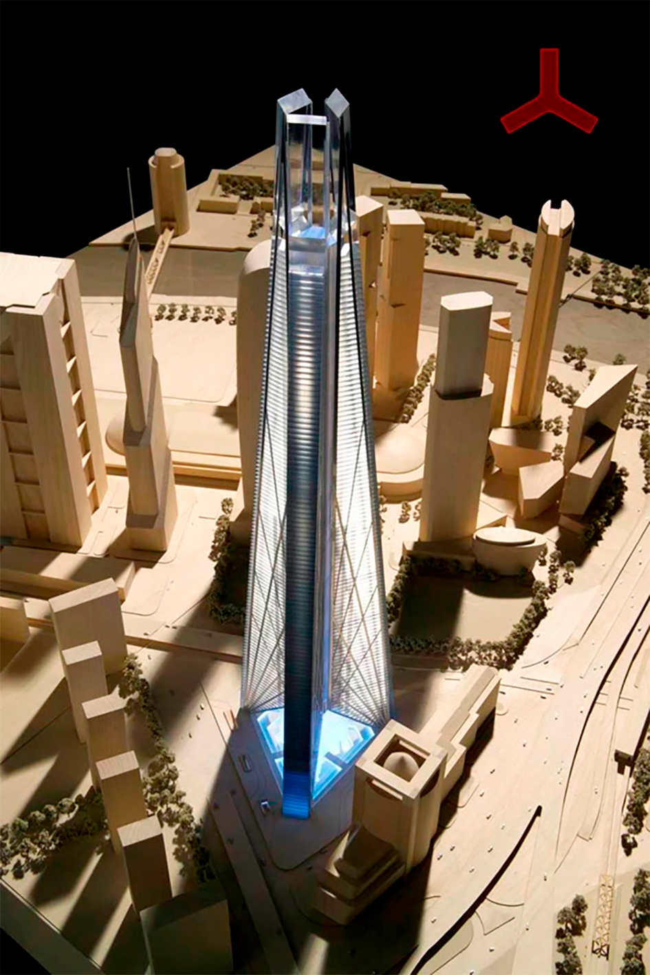 Макет башни «Россия» по проекту Нормана Фостера