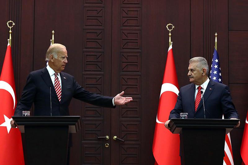 Совместная пресс-конференция вице-президента США Джозефа Байдена спремьером Турции Бинали Йылдырымом, 24 августа 2016 года