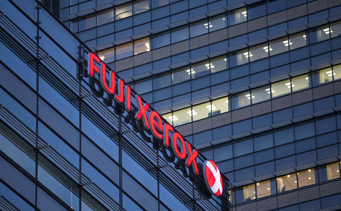 Логотип совместного предприятия Fujifilm Holdings Corp. и Xerox Corp. Токио