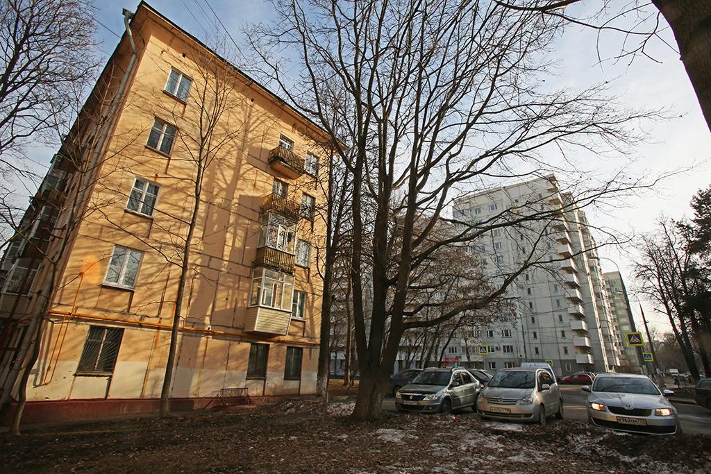 Жилые пятиэтажные дома в районе Академический