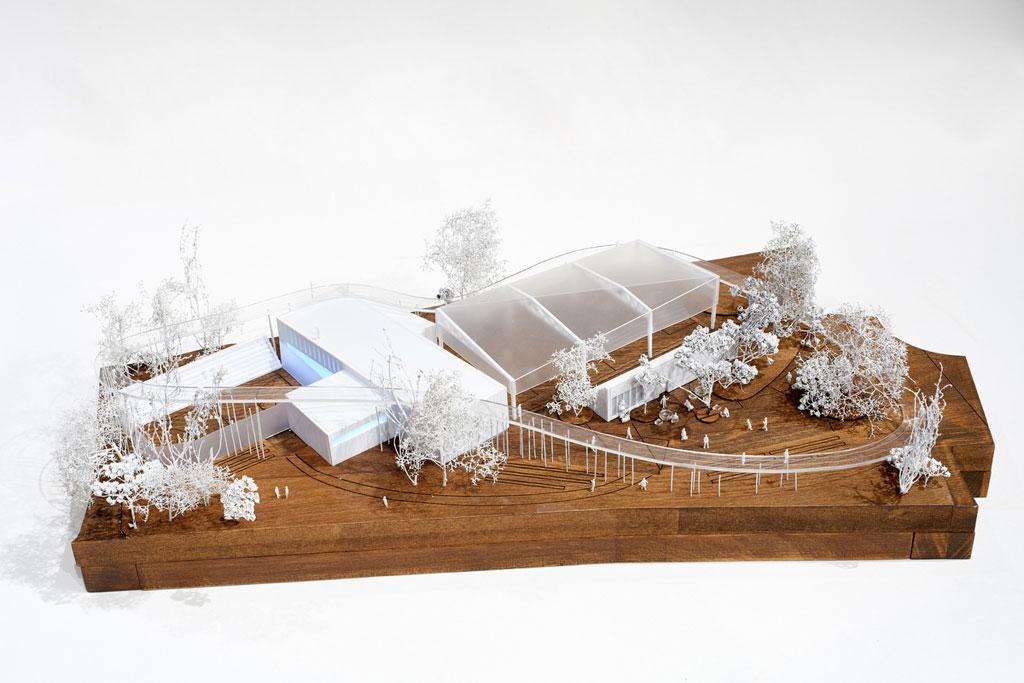 Проект спортивного центра Nike впарке им. Горького, предложенный бюро «Космос», основан наидее Nike Air Box