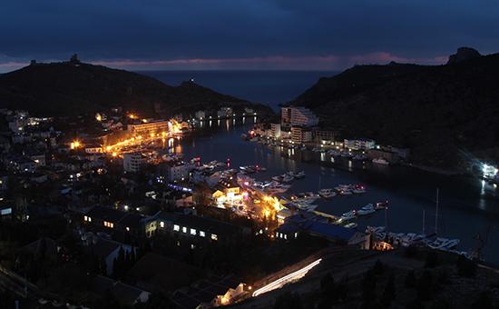 Вид на Балаклаву. Крым