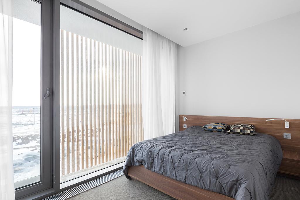 На фото: спальня в жилом комплексе «Миро»