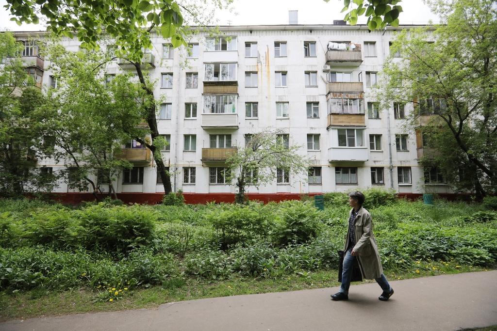 Жилой пятиэтажный дом на Волжском бульваре в Кузьминках